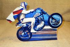 "Evel Knievel Motorcycle Daredevil Tabletop Display Standee 10"" Long"