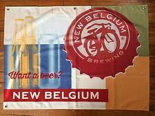 "New Belgium Brewing Beer Sign Flag Cloth Banner New! 31"" X 21"""