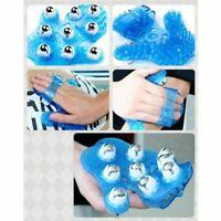 Roller 9 Balls Body Massage Glove Body Massage Glove Roller Beads Anti-Cellulite