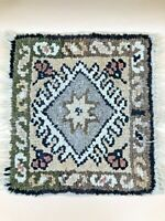 Authentic Vintage Hand Knotted Turkish Wool Kilim Area Rug