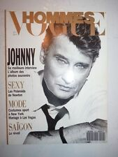 Magazine mode fashion VOGUE HOMMES #152 septembre 1992 Johnny Hallyday
