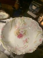 R S Prussia HIDDEN IMAGE Cabinet Bowl with Art Nouveau Maiden and Carnations!!!!