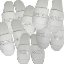 12 pairs Personalised Wedding Spa Slippers -Bride To Be Just Married Crystal Gem