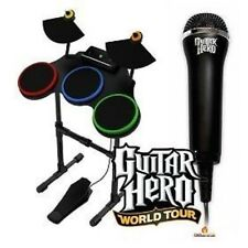 XBOX 360 GUITAR HERO World Tour Wireless DRUMS + MIC