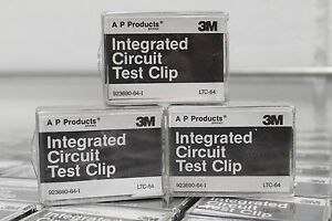 Lot of (3) 3M AP LTC-64 923690-64-I Intergrated Circuit Test Clip