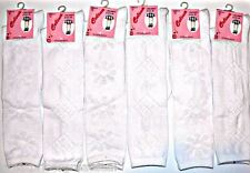 NEW Girls Knee High School Socks 6 12 Pairs Quality Celina White Design S M L XL