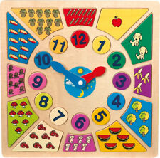 Toy Wooden Clock with Jigsaw pieces