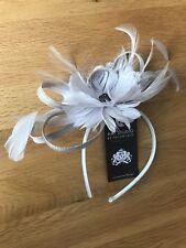 Failsworth Millinery Flower Fascinator in Silver