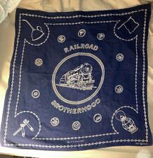 Vintage Railroad Brotherhood Bandana Kerchief Fast Color U.S. Patent 15999