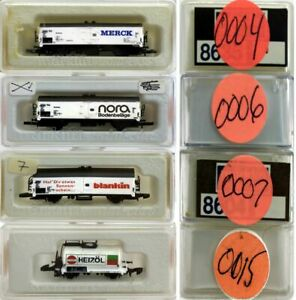 MARKLIN Z SCALE M/M 0004-0006-0007-0015  4 COLLECTOR Freight Cars Marklin BoxsC8