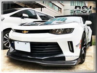 R1 Carbon Fiber Front Bumper Lip W/ Winglet For Chevrolet 16-18 Camaro I4 V6 RS