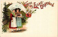 CPA  Gruss aus Elsass-Lothringen - Litho - Folklore - Types  (481484)