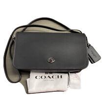 Coach 57325 DK/Black Glovetanned Turnlock Crossbody NWT MSRP $225+Dustbag