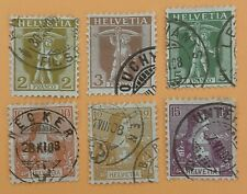 Switzerland 1907 2 Sets of Stamps Used