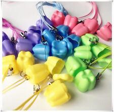 10pcpack Dental Milk Teeth Holder Box Plastic Necklace Tooth Shape Baby Kid Toy