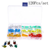 120pcs Mini Blade Fuse Assortment Set Auto Car Motorcycle SUV FUSES Kit CN37LDUK