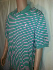 Polo Golf Ralph Lauren Green Pink Striped Shirt Men's XL       H20