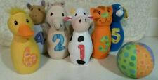 Earlyears Early Years Baby Farm Friends Plush Infant-Toddler Bowling Set Rattles