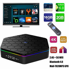 T95Z plus Android 6.0 Amlogic S912 DUAL WIFI Smart TV BOX 2/16GB Media Player MY