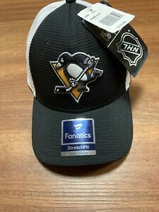 Pittsburgh Penguins NHL Trucker cap hat Stretch Fit MSRP $25.99 NWT