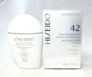 Shiseido Urban Environment Oil Free UV Protector SPF 42 For Face ~ 1.0 oz ~ BNIB