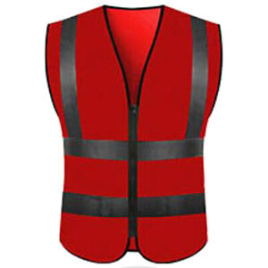 Hi Vis Safety Hoodie Jacket High Viz Visibility Work Hooded Waistcoat Vest Tops
