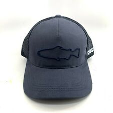 Costa Stealth Navy Trout Vented Trucker Hat Cap Adjustable