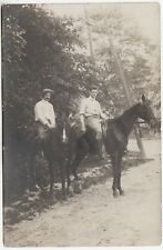 FRANCE - Two Men On Horses - J Pedo / Paris - c1910s era Real Photo postcard