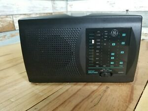 GE Instant Weather 3 Band Portable Radio AM/FM/TV1/TV2 7-2946B