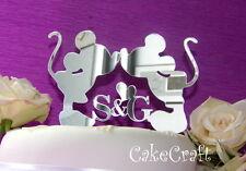 Acrilico iniziale Mickey Minnie Mouse wedding Engagement Cake Topper Decorazioni