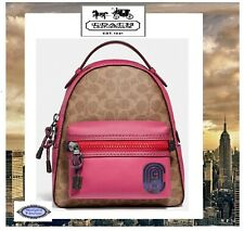 Coach 69522 Campus 23 Backpack in Signature Canvas With Patch Tan/bright C