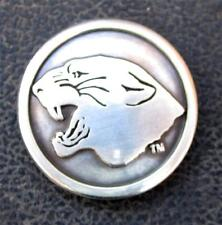 Lot of 5 panthers conchos dipped in pure silver. 1 1/8 inch wide screw back