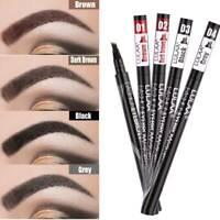 Waterproof Microblading Eye Brow Eyeliner Eyebrow Pen Pencil Brush Makeup Tool /