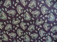 WtW Fabric Vintage Purple Paisley Mod Retro Pattern Quilt