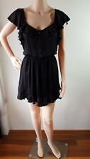 SHEIKE Ladies Black Jumpsuit Playsuit Romper Shorts Size: 8 EUC