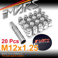 20x Chrome MARS Wheel Rim M12x 1.25 Slim Lug Lock Nut For Nissan Subaru Infiniti