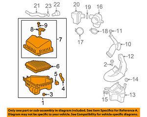 Pontiac GM OEM 09-10 Vibe Air Cleaner Intake-Filter Box Housing 19204406