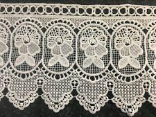 Cream Crochet Lace Trim Fabric