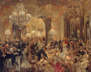 Adolph Menzel The Ballsouper Giclee Art Paper Print Poster Reproduction
