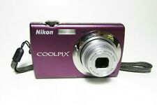 Nikon Coolpix S220 10.0MP HD Digital Camera - Plum - w/ Battery & Charger