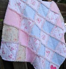 Rag Quilt ~Shabby Cottage Chic ~ Baby Girl ~ Nursery Decor