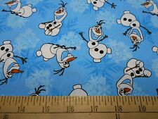 "2 yards Disney Frozen  ""Olaf Snowflakes""  Fabric"