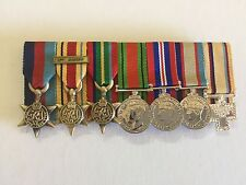 World War 11 Replica Miniature Size Set of Medals.