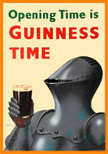 Vintage Poster GUINNESS Retro Beer Advert ART PRINT Home Bar Pub A3 A4 Knight
