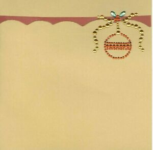 CHRISTMAS Ornament Holiday Bling 6 x 6 Premade Scrapbook Page Add Photo
