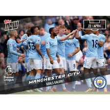 2018 Topps Now Premier League #155 GOALS GALORE! - MANCHESTER CITY