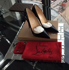 CHRISTIAN LOUBOUTIN SO KATE Black Patent Leather 120mm Size 39.5
