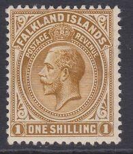 Falkland GV 1912-20 1/- light bistre-brown MINT sg64