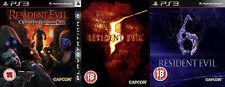 Resident Evil 5 y Resident Evil 6 y Resident Evil Operation Raccoon City ps3 PAL