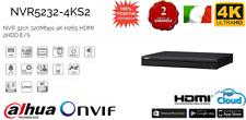 NVR5232-4KS2 NVR DAHUA 4K ULTRA HD 32 CANALI H265 320Mbps 2 HDD HDMI IP